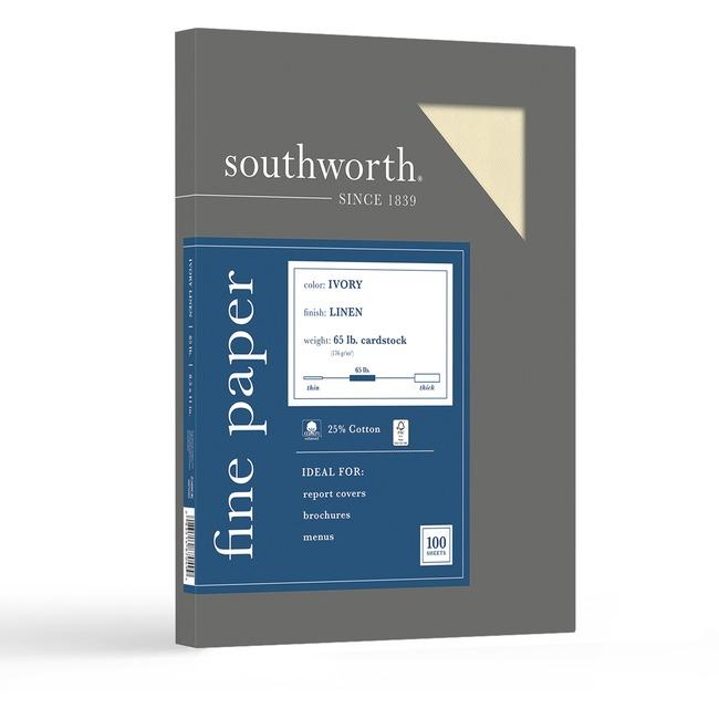 Southworth 25% Cotton Linen Business Cover Stock
