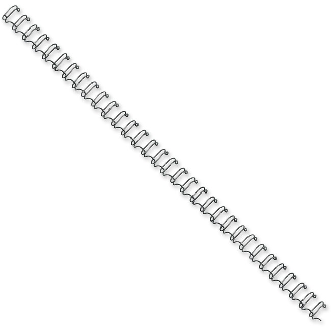 FELLOWES 25PK BINDING SPINES WIRE BLACK 1/4IN