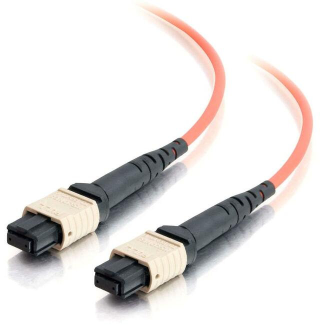 C2G-30m MTP 62.5/125 OM1 Multimode Fiber Optic Cable - Orange
