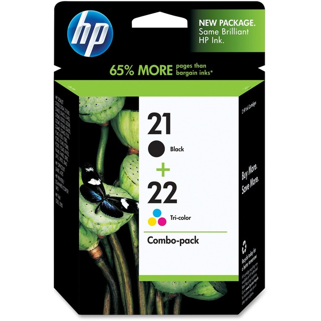 HP 21/22 Black and Tri-color Ink Cartridge