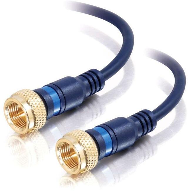 C2G 50ft Velocity Mini-Coax F-Type Cable