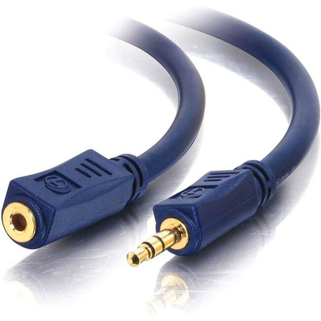 C2G 75FT VELOCITY 3.5MM M/F STEREO AUDIO EXTENSION CABL