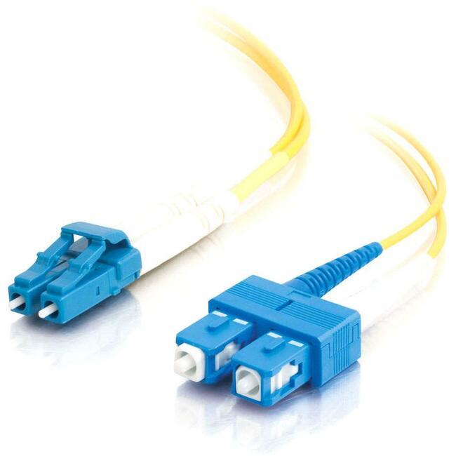 3m LC-SC 9/125 OS1 Duplex Singlemode Fiber Optic Cable (Plenum-Rated) | Yellow