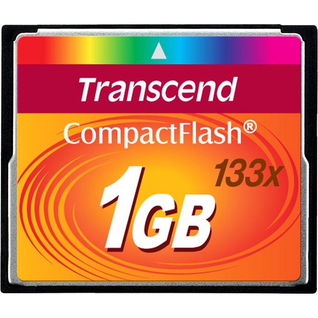 Transcend 1 GB CompactFlash - 133x Memory Speed