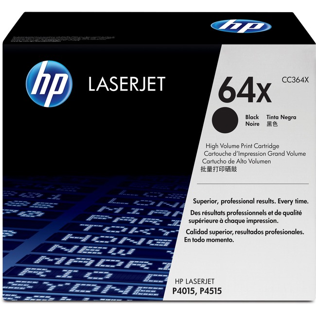 HP 64X Toner Cartridge - Black - Laser - 24000 Page - 1 Each