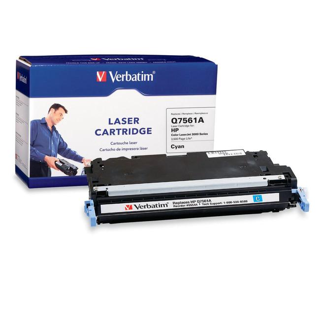 Verbatim HP Q7561A Cyan Remanufactured Laser Toner Cartridge
