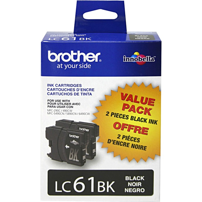 BROTHER - SUPPLIES 2PK LC61BKS BLK INK CARTRIDGES FOR MFC-6490CW 450 PAGES