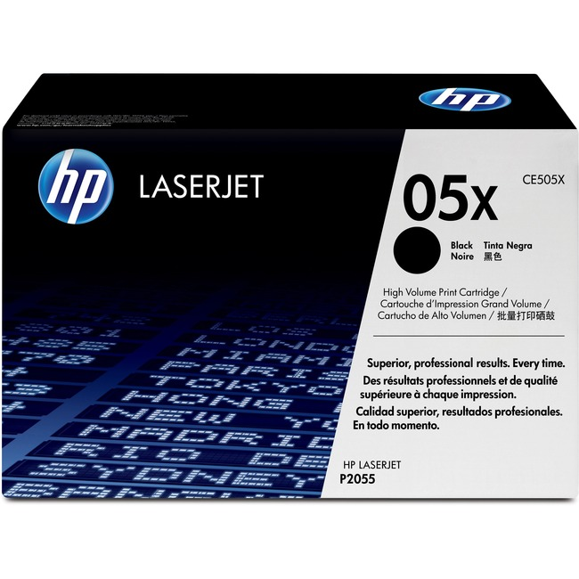 HP 05X (CE505X) High Yield Black Original LaserJet Toner Cartridge