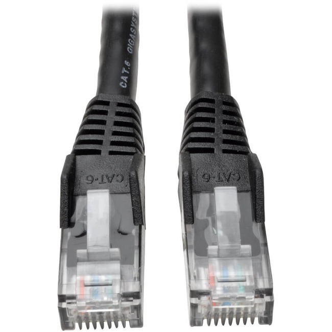 Tripp Lite 20ft Cat6 Gigabit Snagless Molded Patch Cable RJ45 M/M Black 20'