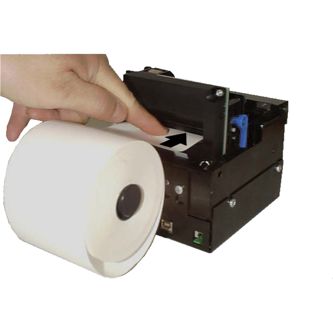 Zebra 01123-112 112 mm Roll Holder behind with Paper Low Sensor