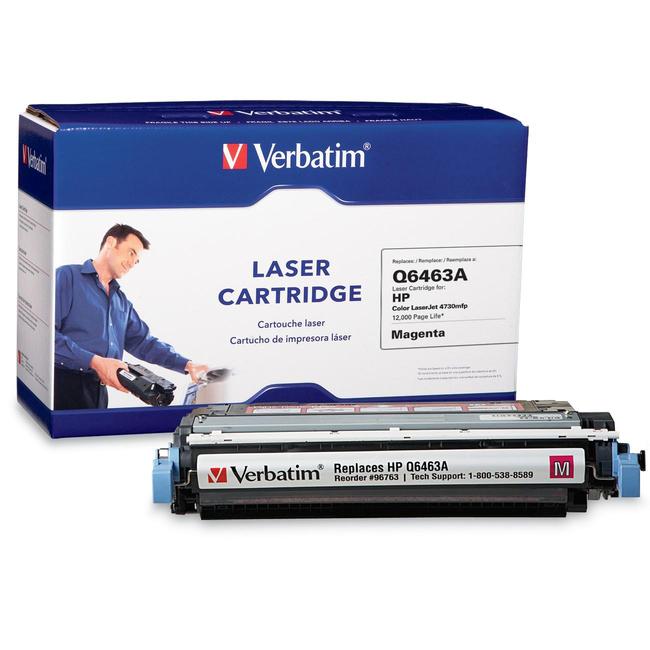 Verbatim HP Q6463A Magenta Remanufactured Laser Toner Cartridge - TAA Compliant