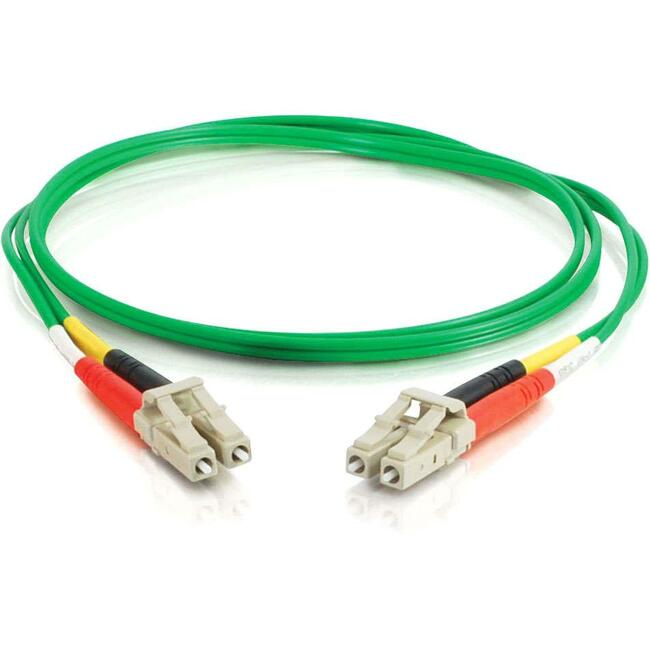 C2G 2m LC-LC 62.5/125 OM1 Duplex Multimode PVC Fiber Optic Cable | Green