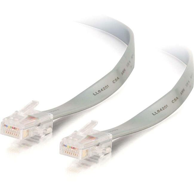 C2G 25ft RJ45 8P8C Crossed/Rollover Modular Cable