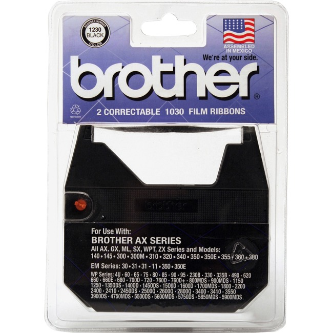Brother 1230 Black Typewriter Correction Ribbon