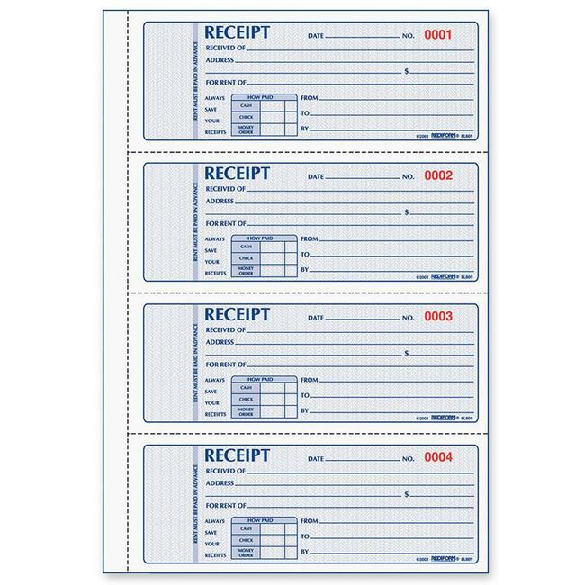 Cash Rent Receipt Rent Receipt Template 1 Rent Receipt Template 2 – Receipt Book Format