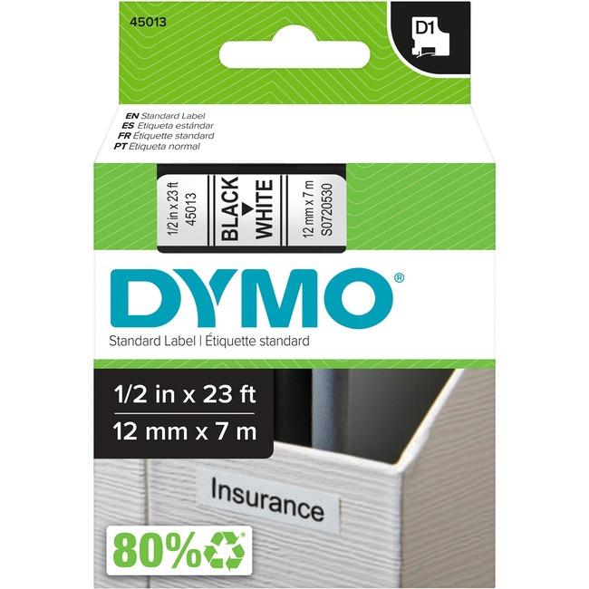 Dymo Black on White D1 Label Tape