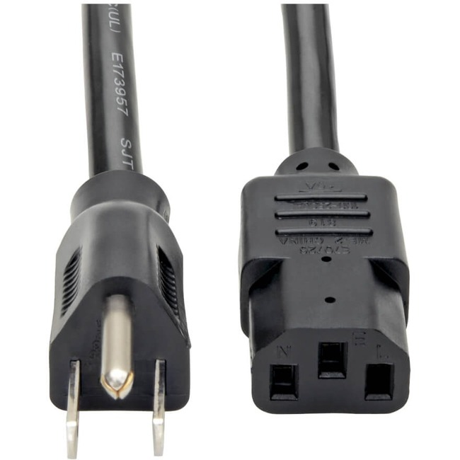 Tripp Lite 6ft Computer Power Cord Cable 5-15P to C13 Heavy Duty 15A 14AWG 6'