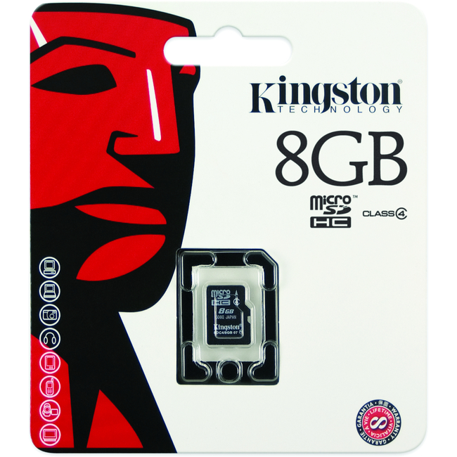 Kingston 8GB Micro Secure Digital High Capacity (SDHC) Card | Class 4