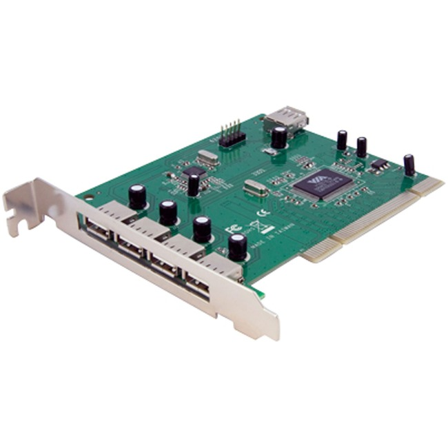 Add 7 USB 2.0 Ports to your PC through a PCI slot - pci to usb - pci usb control