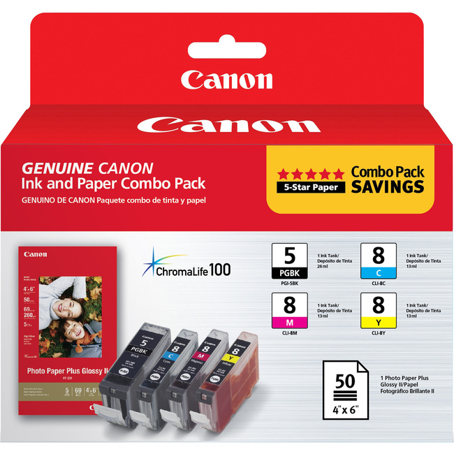 Canon 0628B027 Ink Cartridge - Black, Cyan, Magenta, Yellow