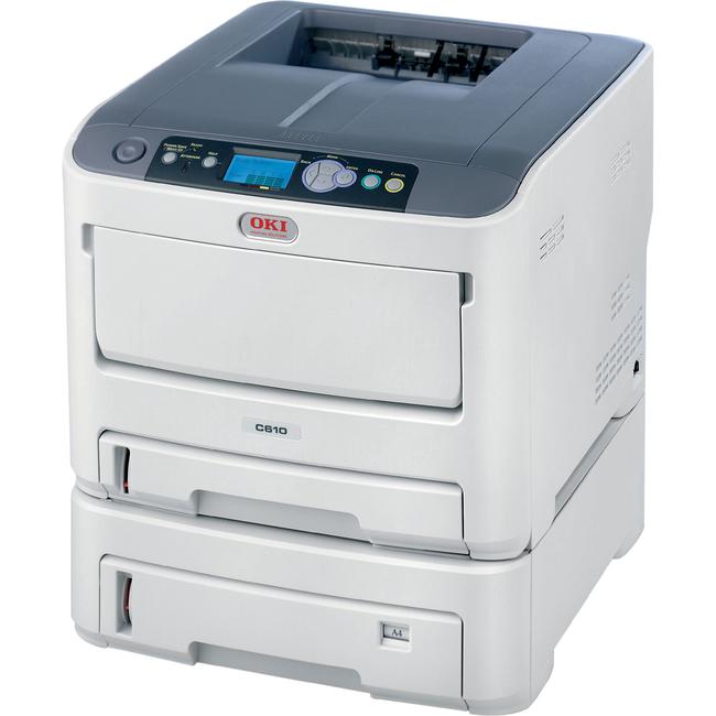 Oki C610DTN LED Printer - Color - 1200 x 600 dpi Print - Plain Paper Print - Desktop