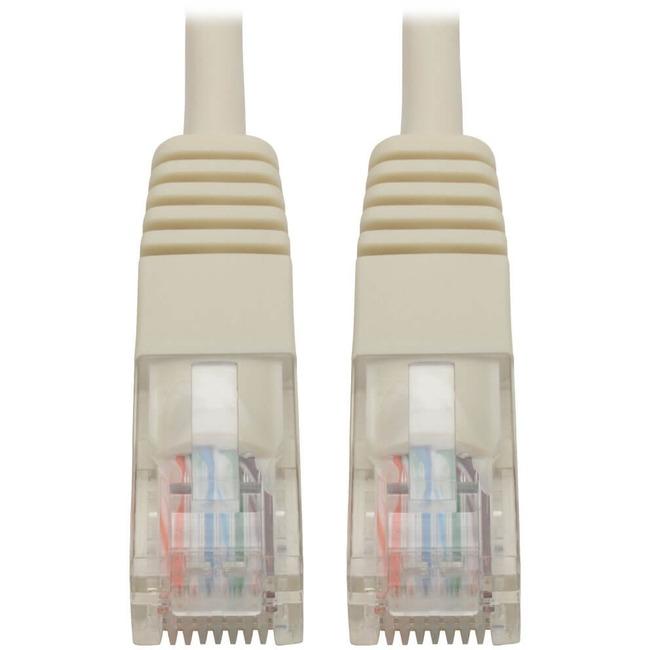 Tripp Lite 14ft Cat5e / Cat5 350MHz Molded Patch Cable RJ45 M/M White 14'