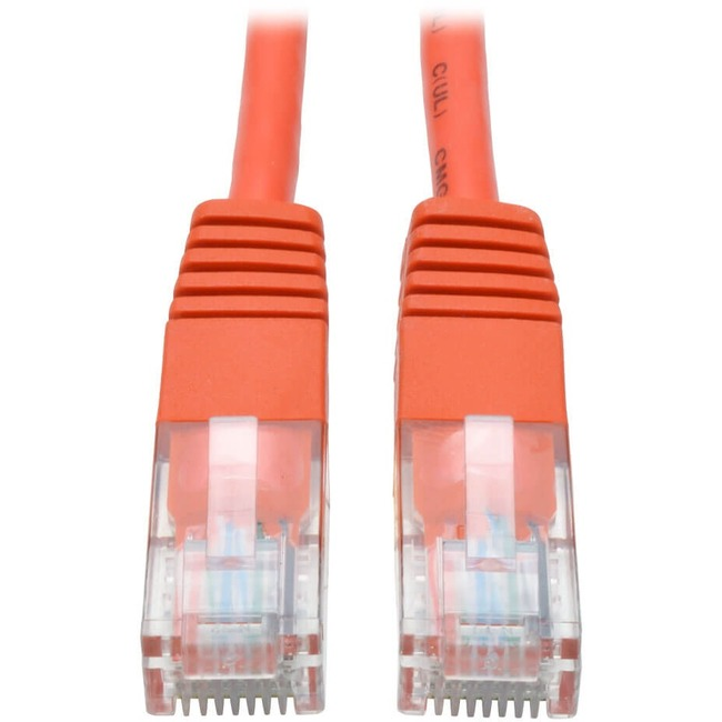 Tripp Lite 14ft Cat5e / Cat5 350MHz Molded Patch Cable RJ45 M/M Orange 14'