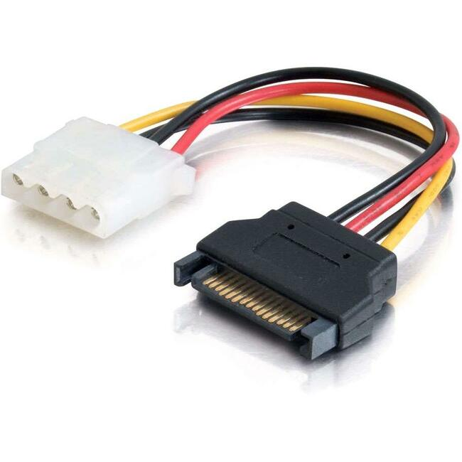 6IN 15-PIN SERIAL ATA MALE TO LP4 FEMALE POWER CABLE