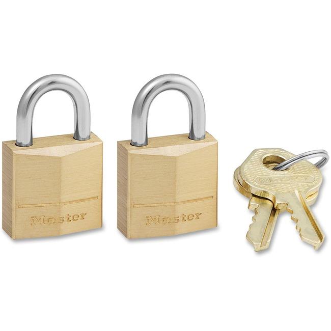 Master Lock Three-Pin Brass Tumbler Locks