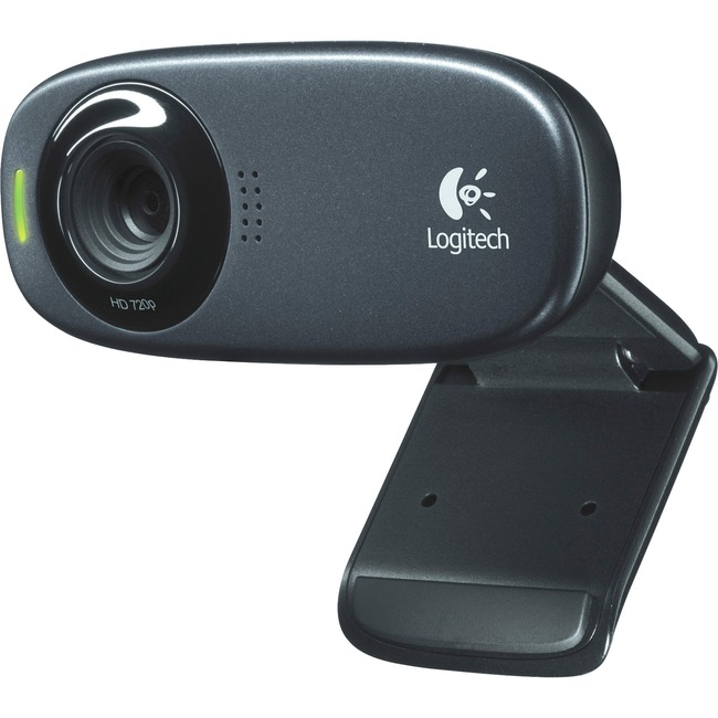 Logitech C310 Webcam - Black - USB 2.0 - 1 Pack(s)
