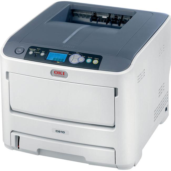 Oki C610N LED Printer - Color - 1200 x 600 dpi Print - Plain Paper Print - Desktop