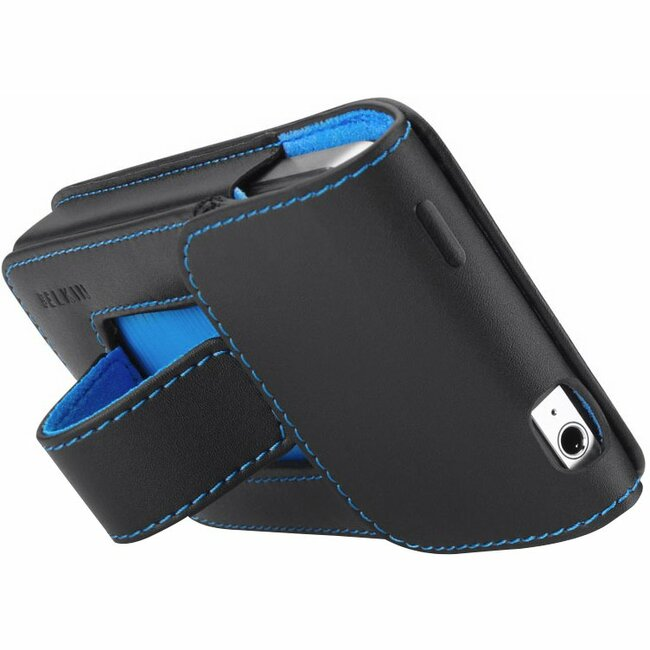 Belkin Verve F8Z636TT Carrying Case for iPhone - Black, Blue