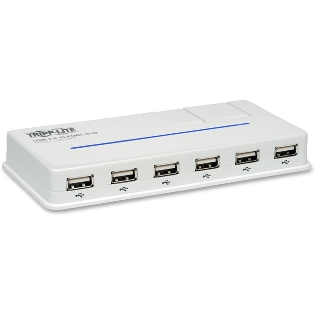 Tripp Lite 10-Port USB 2.0 Hi-Speed Hub Compact Desktop Mobile Tower