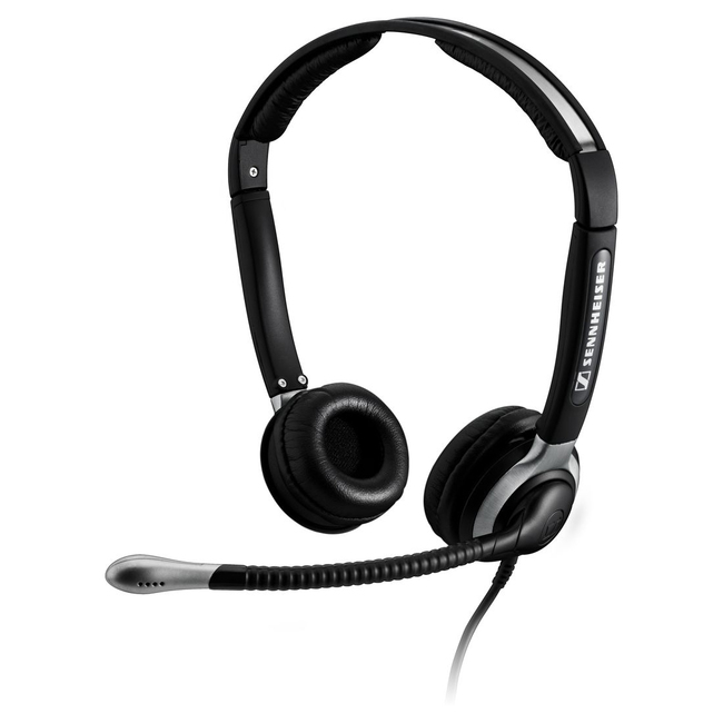 SENNHEISER BUSINESS HEADSETS 504016 BINAURAL HEADSET W/MIC 3.3FT NOISE CANCELLING CC520IP