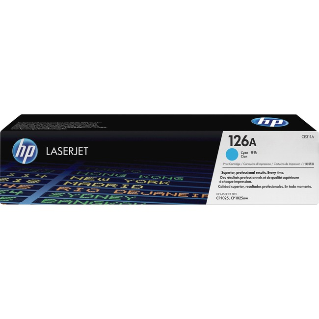 HP 126A (CE311A) Cyan Original LaserJet Toner Cartridge