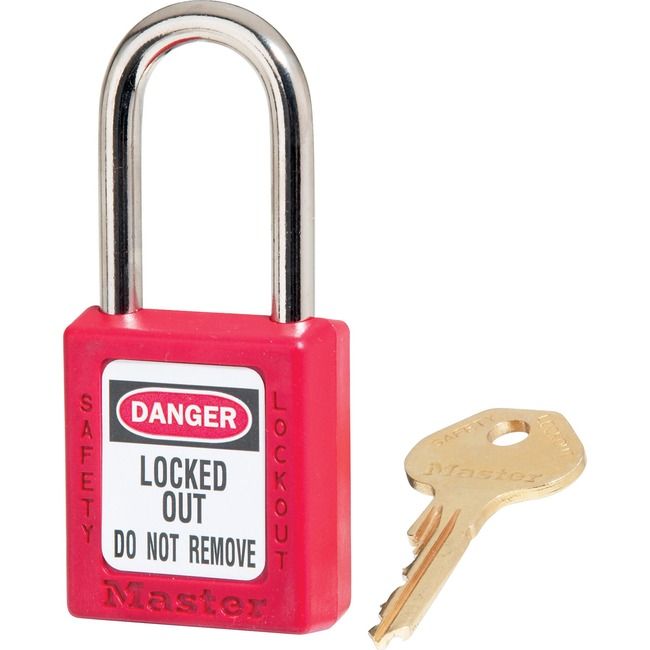 Master Lock Danger Red Safety Padlock