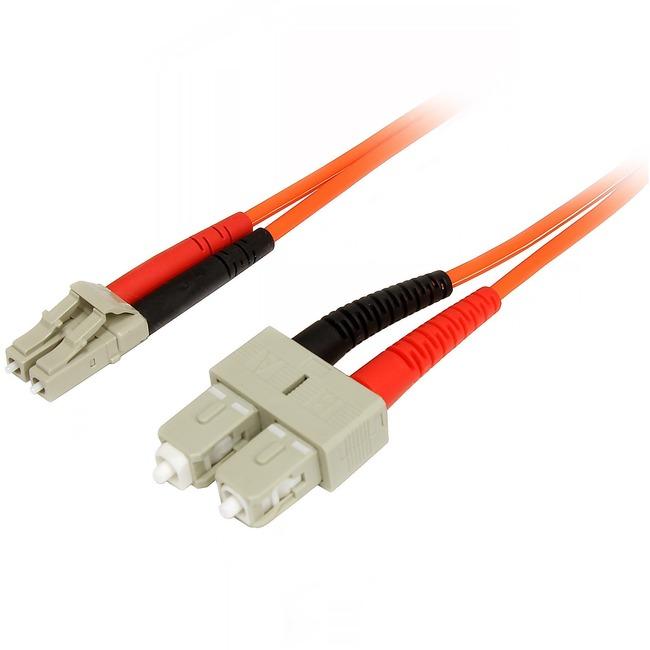 StarTech.com 2m Multimode 50/125 Duplex Fiber Patch Cable LC   SC