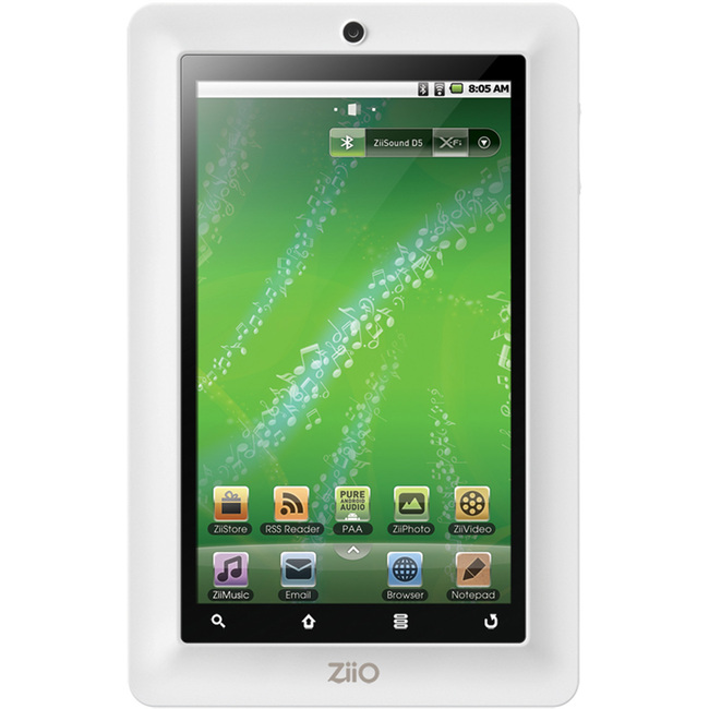 "Creative ZiiO 70PZ033509HH1 8 GB Tablet - 7"" - Wireless LAN - ZiiLABS ZMS-08 1 GHz - White"