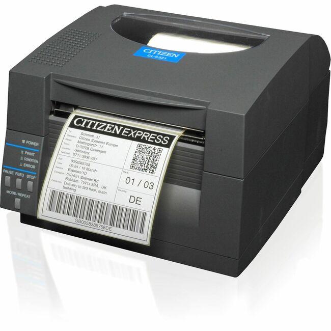 Citizen CL-S521 Direct Thermal Printer | Monochrome | Desktop | Label Print