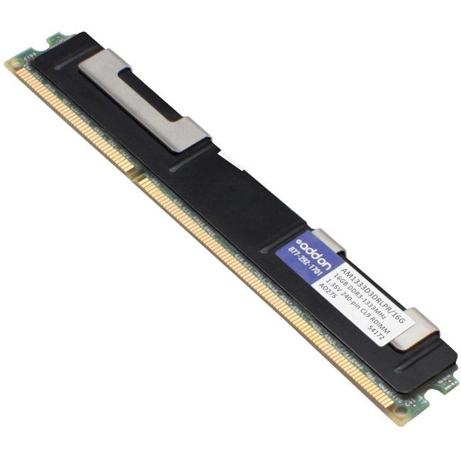 JEDEC Standard Factory Original 16GB DDR3-1333MHz Registered ECC Dual Rank 1.35V 240-pin CL9 RDIMM