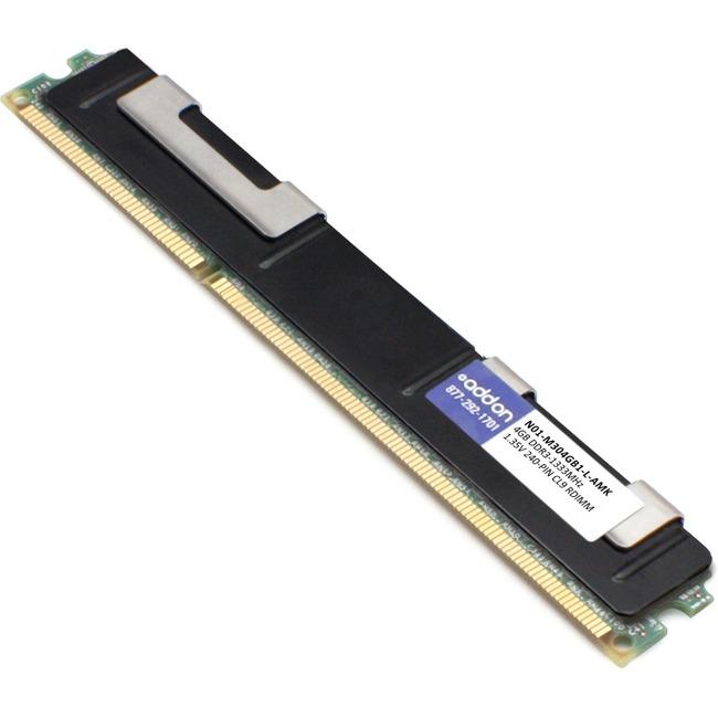 ADD-ON MEMORY DT 4GB DDR3-1333MHZ RDIMM F/ CISCO N01-M304GB1-L DR ECC SVR MEM