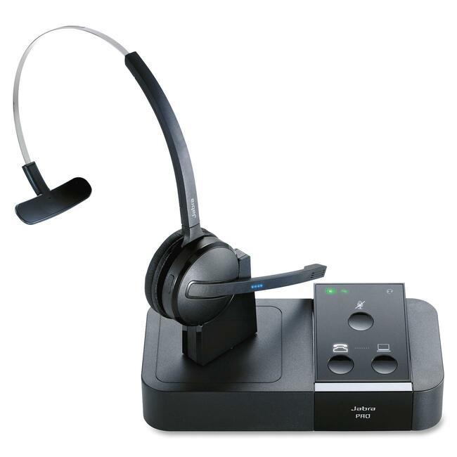 PRO 9450 Mono Midi-Boom Wireless Headset and Base Unit, Intuitive  Touch Pad Con