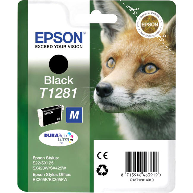 Epson DURABrite T1281 Ink Cartridge - Black