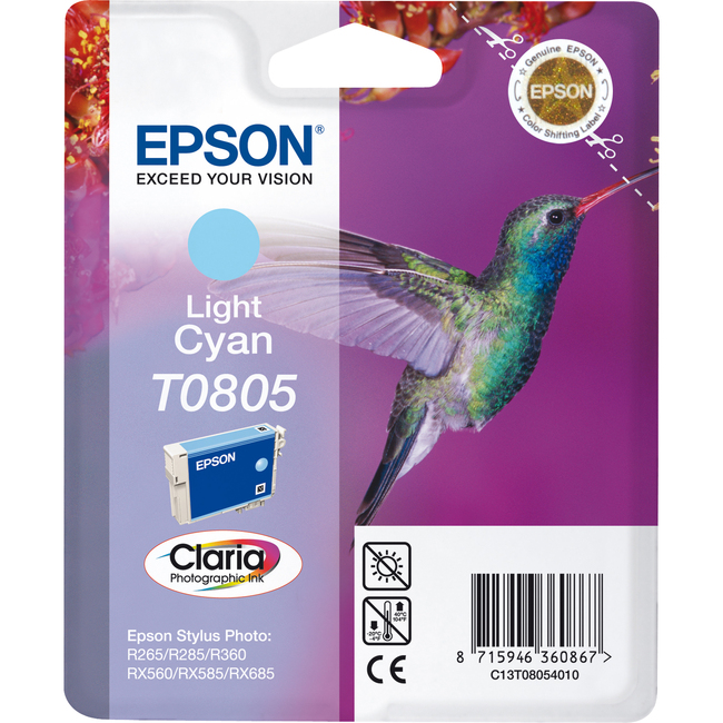 Epson Claria T0805 Ink Cartridge - Light Cyan
