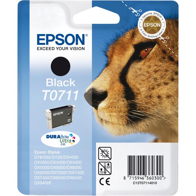 Epson DURABrite Ultra T0711 Ink Cartridge - Black