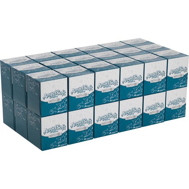 Angel Soft Ultra Professional Series Premium Facial Tissue in Cube Box