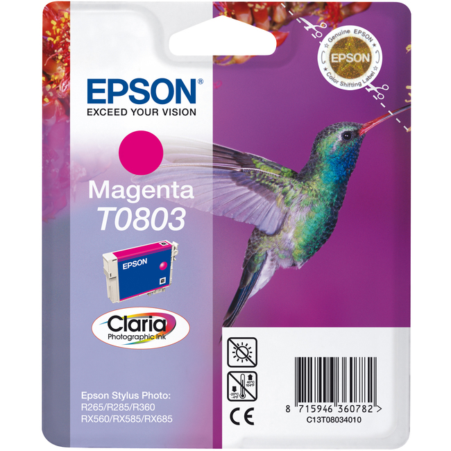 Epson Claria T0803 Ink Cartridge - Magenta