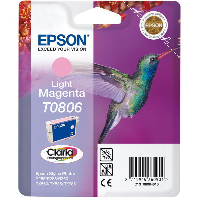 Epson Claria T0806 Ink Cartridge - Light Magenta