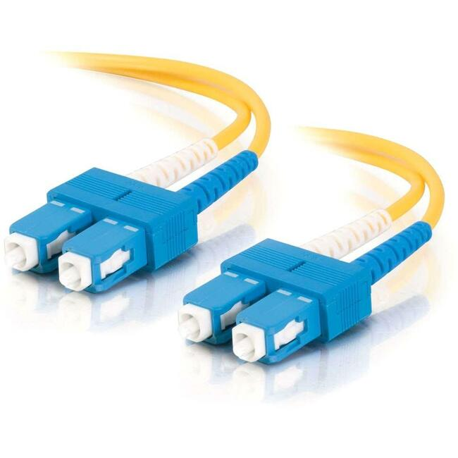 20m SC-SC 9/125 OS1 Duplex Singlemode Fiber Optic Cable (TAA Compliant) - Yellow