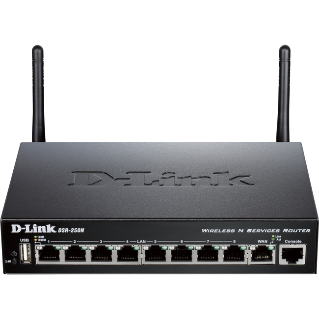D-Link DSR-250N IEEE 802.11n  Wireless Integrated Services Router